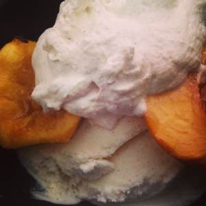 Honey Grilled Peaches with Cinnamon and Brown Sugar Whipped Topping